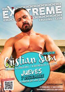 Cristian Sam el Jueves 7 de diciembre en EXXXTREME CLUB