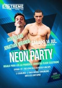 14 de julio. Neon Party con Javi Velaro y Jonathan Miranda en Exxxtreme