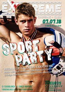 Nueva Sport Party el sábado 7 de julio en EXXXTREME CLUB