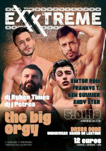 The Big Orgy con Viktor Rom, Frankie T, Ken Summer y Andy Star