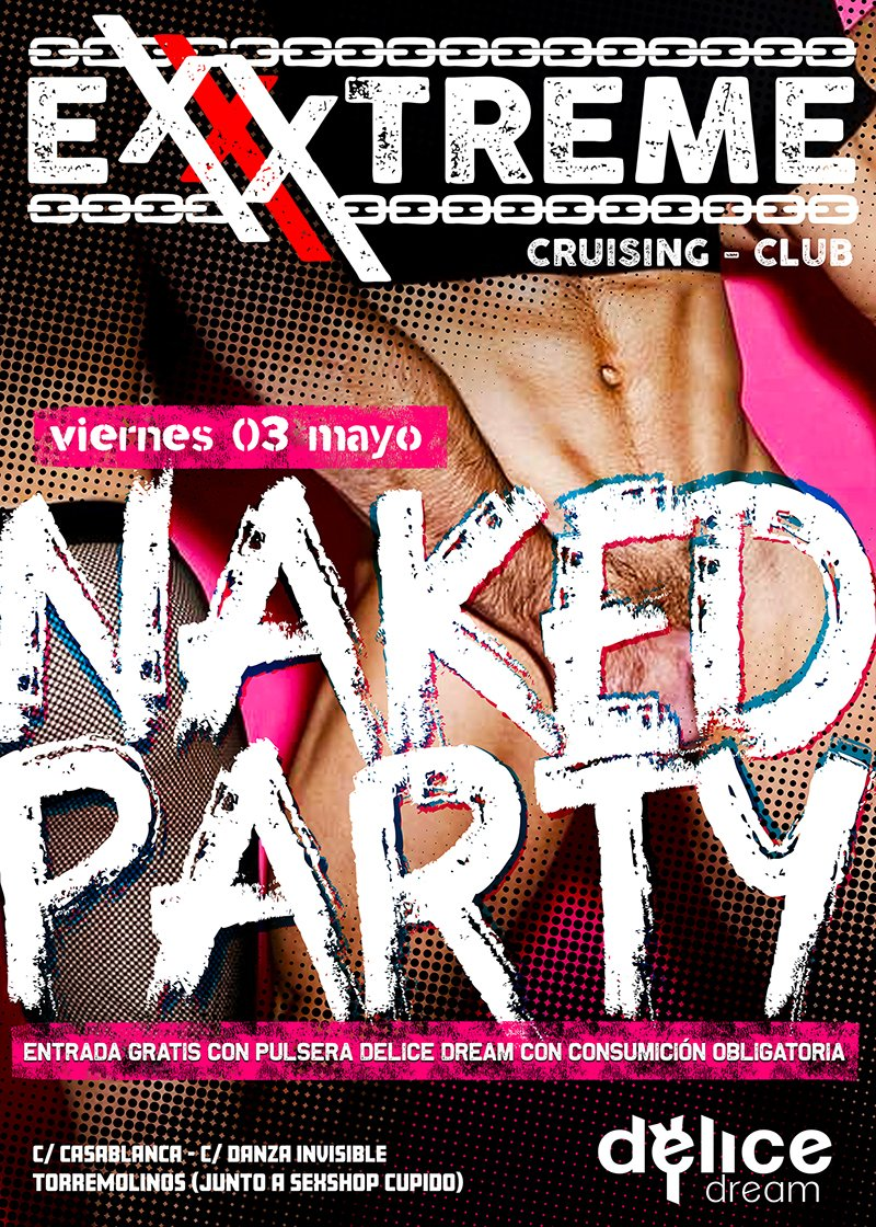 3 de mayo NAKED PARTY
