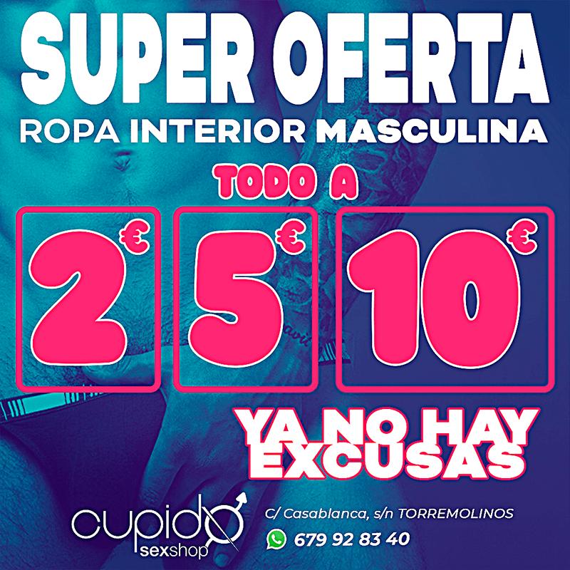 SUPER OFERTA EN ROPA INTERIOR MASCULINA