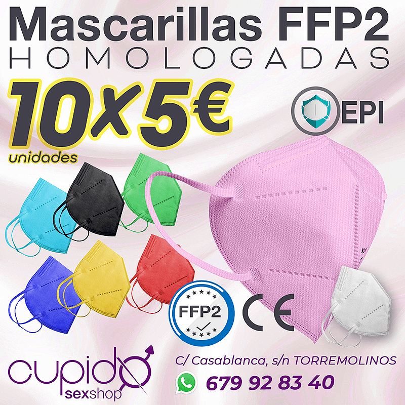 MASCARILLAS FFP2 de colores, HOMOLOGADAS. 10 Unidades por 5€